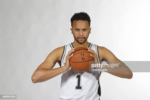 Kyle Anderson of the San Antonio Spurs poses for a portrait during media day at the Spurs Training Facility on September 28 2015 in San Antonio Texas...