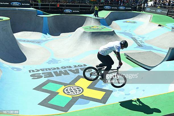 Kyle Baldock in action during BMX Park at the X Games on April 20