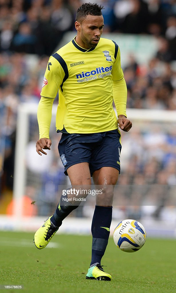 Kyle Bartley of Birmingham City during their Sky Bet Championship match between Leeds United and Birmingham City at Elland Road Stadium on October 20, 2013 in Leeds, England.