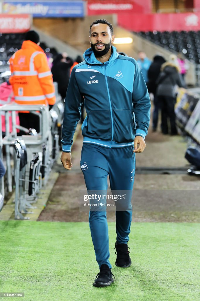 Kyle Bartley of Swansea City arrives prior to the game during The Emirates FA Cup match between Swansea City and Notts County at The Liberty Stadium on February 06, 2018 in Swansea, Wales.