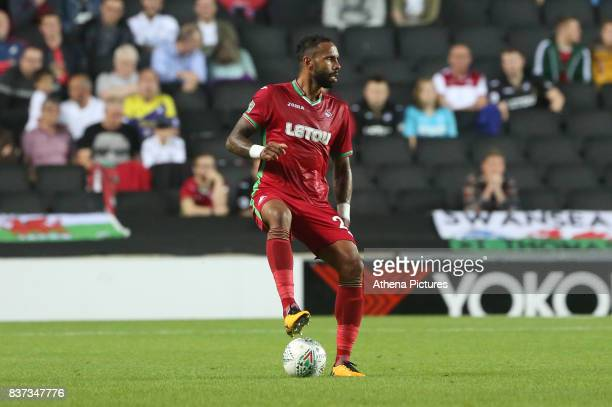 Kyle Bartley of Swansea City during the Carabao Cup Second Round match between MK Dons and Swansea City at StadiumMK on August 22 2017 in Milton...
