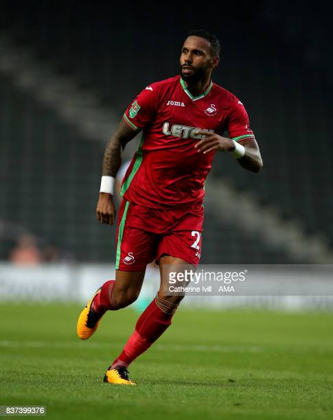 Kyle Bartley of Swansea City during the Carabao Cup Second Round match between Milton Keynes Dons and Swansea City at StadiumMK on August 22 2017 in...