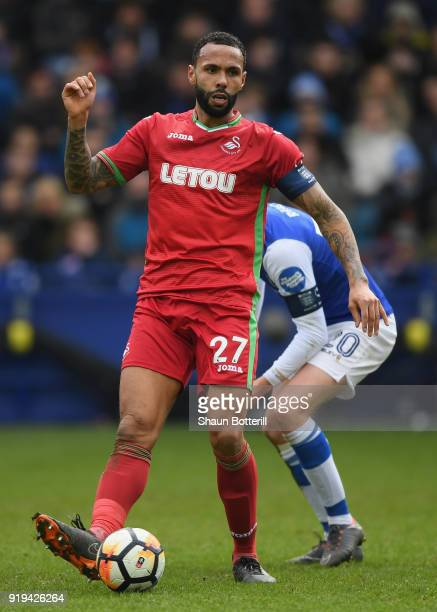 Kyle Bartley of Swansea City during the Emirates FA Cup Fifth Round match between Sheffield Wednesday and Swansea City at Hillsborough on February 17...
