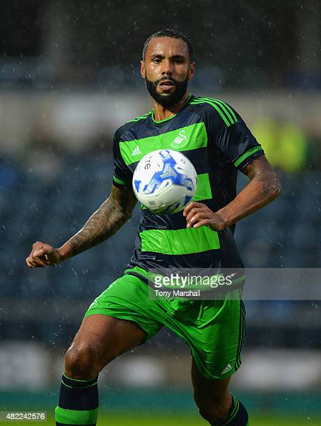 Kyle Bartley of Swansea City during the Pre Season Friendly match between Reading and Swansea City at Adams Park on July 24 2015 in High Wycombe...