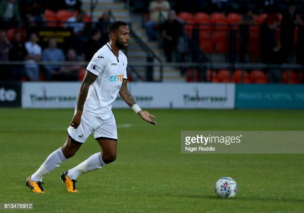 Kyle Bartley of Swansea City during the pre season friendly match between Barnet and Swansea City at The Hive on July 12 2017 in Barnet England