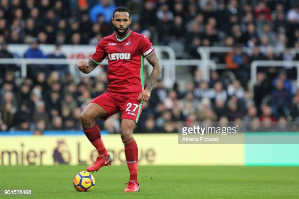 Kyle Bartley of Swansea City in action during the Premier League match between Newcastle United and Swansea City at St James' Park on January 13 2018...