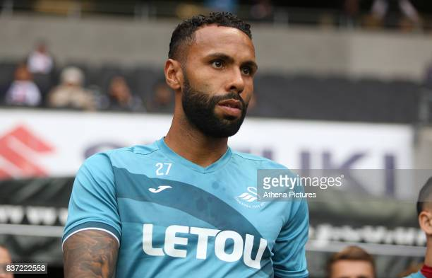 Kyle Bartley of Swansea City prior to kick off of the Carabao Cup Second Round match between MK Dons and Swansea City at StadiumMK on August 22 2017...