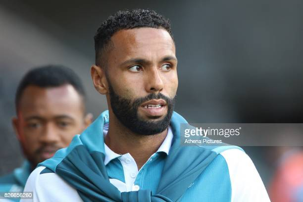 Kyle Bartley of Swansea City prior to kick off of the preseason friendly match between Swansea City and Sampdoria at The Liberty Stadium on August 5...