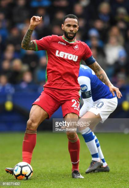 Kyle Bartley of Swansea City runs with the ball during the The Emirates FA Cup Fifth Round between Sheffield Wednesday v Swansea City at Hillsborough...