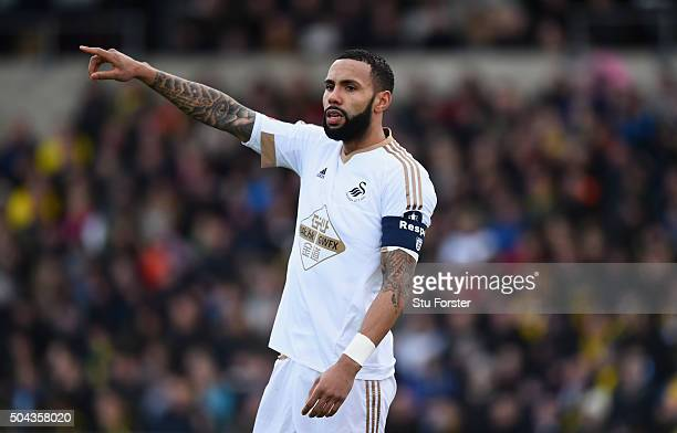 Kyle Bartley of Swansea in action during The Emirates FA Cup Third Round match between Oxford United and Swansea City at Kassam Stadium on January 10...