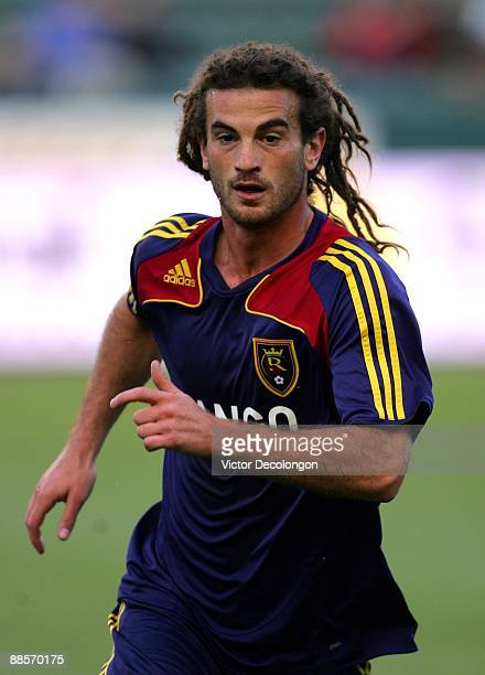 Kyle Beckerman of Real Salt Lake warms up prior to the MLS game against the Los Angeles Galaxy at The Home Depot Center on June 13 2009 in Carson...