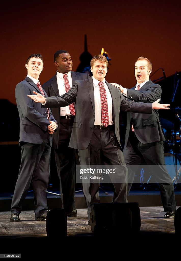 Kyle Bieldeld, John Brancy, Michael James Shaw and Noah Witke at Peter Jay Sharp Theater on April 30, 2012 in New York City.
