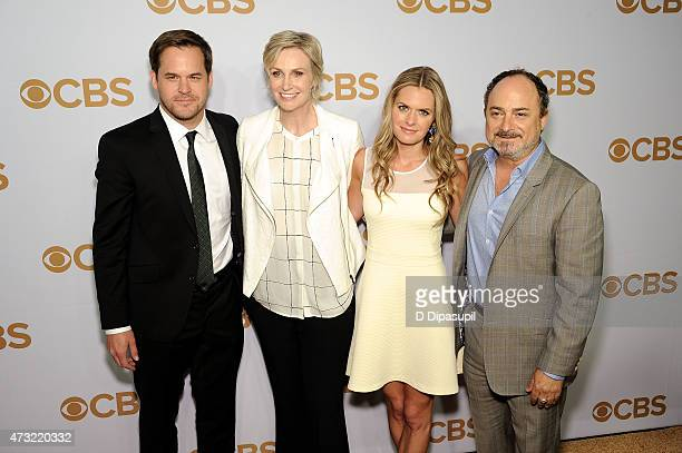 Kyle Bornheimer Jane Lynch Maggie Lawson and Kevin Kevin Pollak attend the 2015 CBS Upfront at The Tent at Lincoln Center on May 13 2015 in New York...