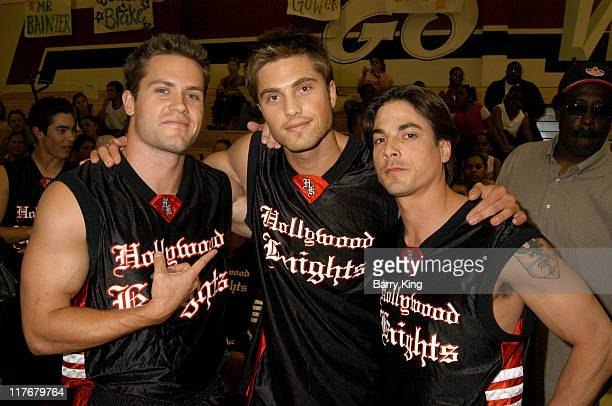 Kyle Brandt Eric Winter and Bryan Dattilo during Hollywood Knights Basketball Game Fullerton at Troy High School in Fullerton California United States