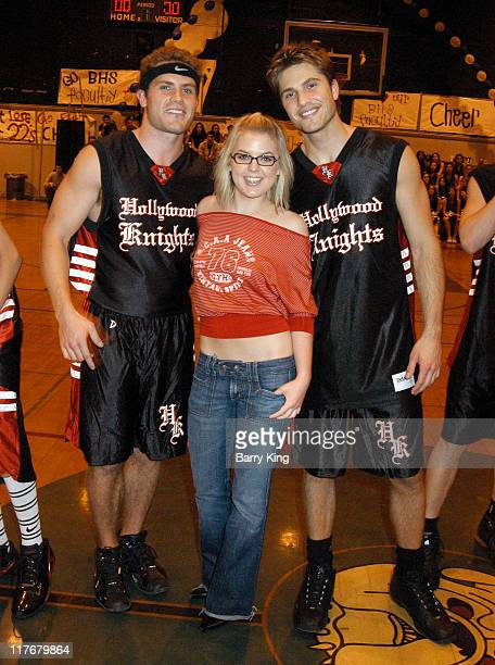 Kyle Brandt, Kirsten Storms and Eric Winter during Hollywood Knights Charity Basketball Game - Burbank at Burbank High School in Burbank, California,...