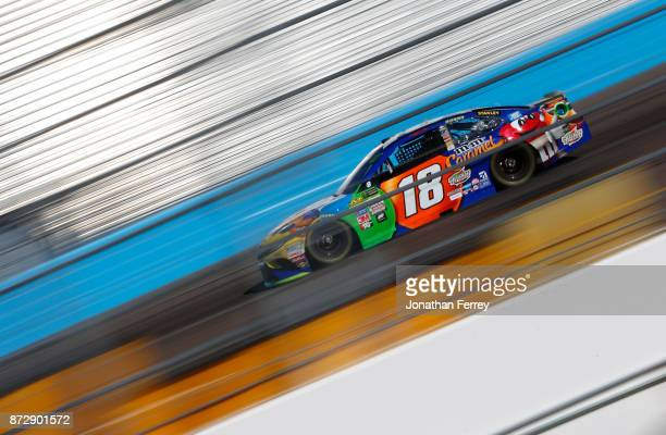 Kyle Busch driver of the MM's Caramel Toyota during practice for the Monster Energy NASCAR Cup Series CanAm 500 at Phoenix International Raceway on...
