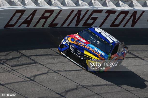Kyle Busch driver of the MM's Caramel Toyota practices for the Monster Energy NASCAR Cup Series Bojangles' Southern 500 at Darlington Raceway on...