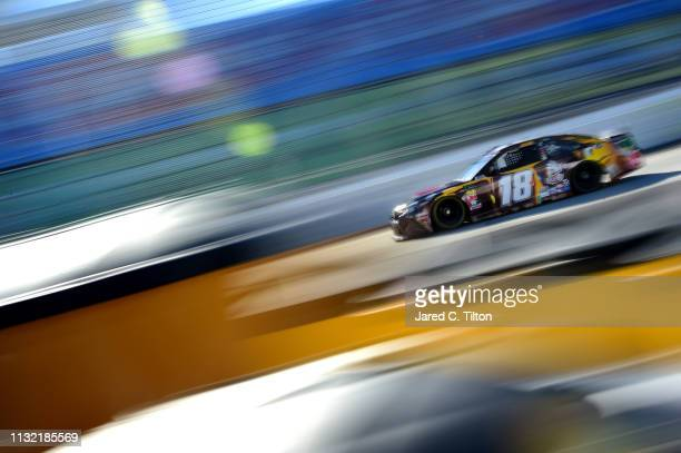 Kyle Busch driver of the MM's Chocolate Bar Toyota practices for the Monster Energy NASCAR Cup Series STP 500 at Martinsville Speedway on March 23...