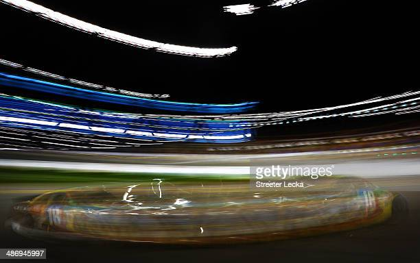 Kyle Busch driver of the MM's Toyota races during the NASCAR Sprint Cup Series Toyota Owners 400 at Richmond International Raceway on April 26 2014...