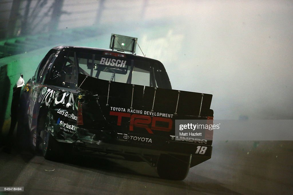 NASCAR Camping World Truck Series Buckle Up In Your Truck 225 : News Photo
