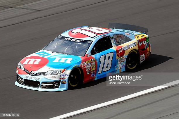 Kyle Busch drives the MM's RedWhiteBlue MProve America Toyota during practice for the NASCAR Sprint Cup Series CocaCola 600 at Charlotte Motor...