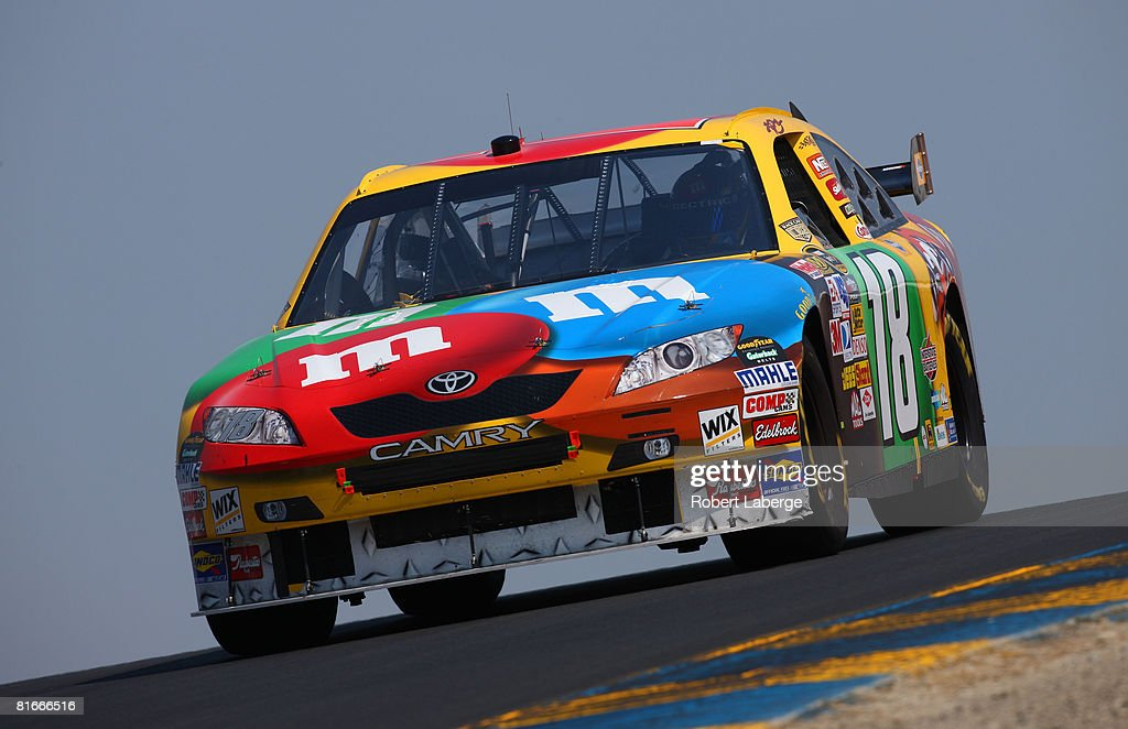 Kyle Busch Drives The #18 Mu0026Mu0027S Toyota During The NASCAR Sprint Cup Series  Toyota/