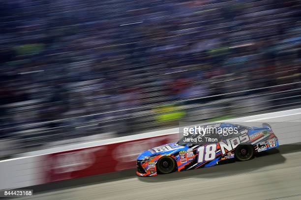 Kyle Busch drives the NOS Energy Drink Toyota during the NASCAR XFINITY Series Virginia529 College Savings 250 at Richmond International Raceway on...