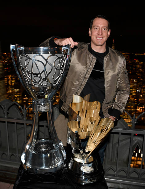 NY: Kyle Busch Visits Top Of The Rock During The 2019 NASCAR Champion's Media Tour