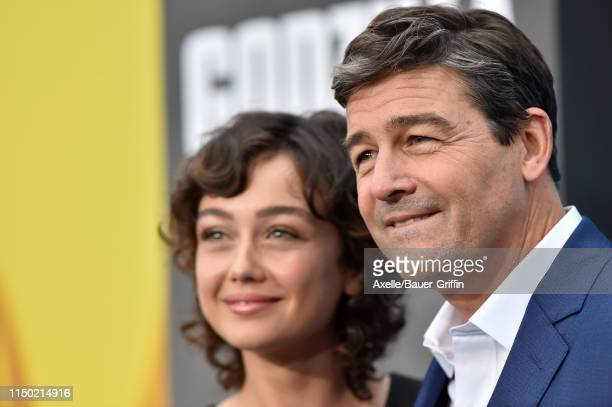 Kyle Chandler and daughter Sydney Chandler attend the premiere of Warner Bros Pictures and Legendary Pictures' Godzilla King of the Monsters at TCL...
