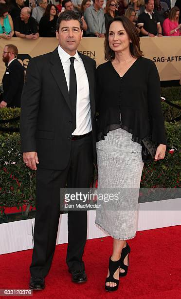 Kyle Chandler and Kathryn Chandler arrive at the 23rd Annual Screen Actors Guild Awards at The Shrine Expo Hall on January 29 2017 in Los Angeles...