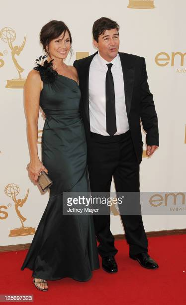 Kyle Chandler and Kathryn Chandler arrive at the 63rd Primetime Emmy Awards at the Nokia Theatre L.A. Live on September 18, 2011 in Los Angeles,...