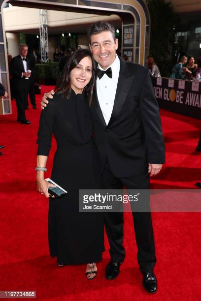 Kyle Chandler and Kathryn Chandler attend the 77th Annual Golden Globe Awards at The Beverly Hilton Hotel on January 05 2020 in Beverly Hills...