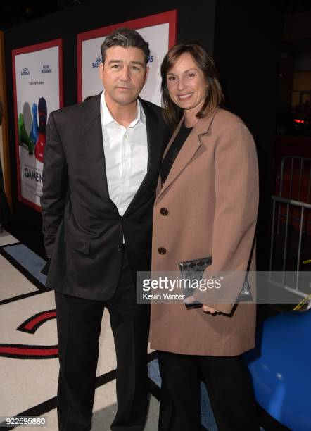 Kyle Chandler and Kathryn Chandler attend the premiere of New Line Cinema and Warner Bros Pictures' Game Night at TCL Chinese Theatre on February 21...