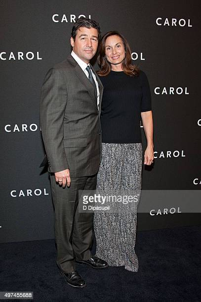 Kyle Chandler and wife Kathryn Chandler attend the Carol New York premiere at the Museum of Modern Art on November 16 2015 in New York City