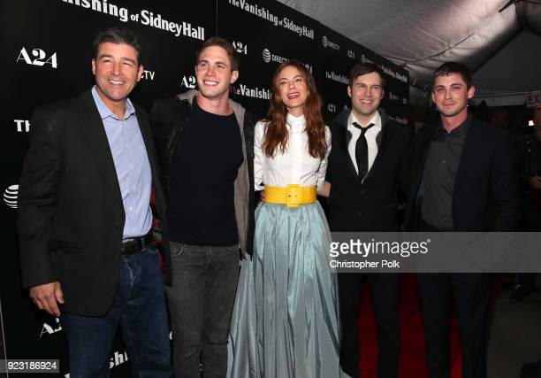 Kyle Chandler Blake Jenner Michelle Monaghan Shawn Christensen and Logan Lerman attends the premiere of A24 and DirecTV's The Vanishing Of Sidney...