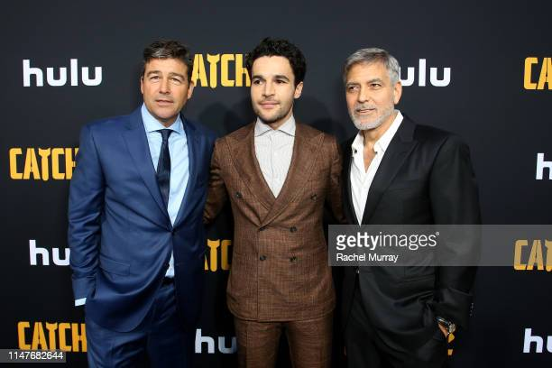 """Kyle Chandler, Christopher Abbott and George Clooney attend the premiere of Hulu's """"Catch-22"""" on May 07, 2019 in Hollywood, California."""