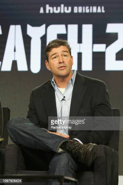 Kyle Chandler of 'Catch 22' speaks onstage during the Hulu Panel during the Winter TCA 2019 on February 11 2019 in Pasadena California