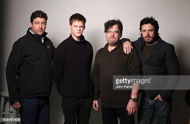 Kyle ChandlerLucas Hedges Director Kenneth Lonergan and Casey Afflect from the film ''Manchester by the Sea' posed for a portrait during The...