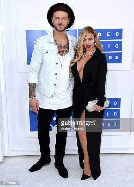 Kyle Christie and Holly Hagan attend the 2016 MTV Video Music Awards at Madison Square Garden on August 28 2016 in New York City