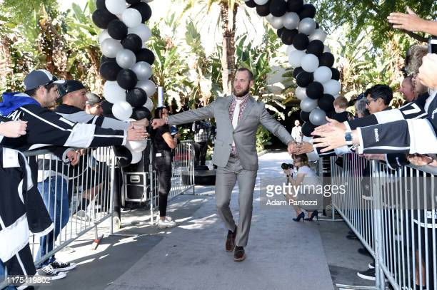 Kyle Clifford of the Los Angeles Kings arrives before the Los Angeles Kings game against the Nashville Predators at STAPLES Center on October 12 2019...
