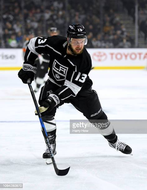 Kyle Clifford of the Los Angeles Kings skates after the puck during the game against the Ottawa Senators at Staples Center on January 10 2019 in Los...