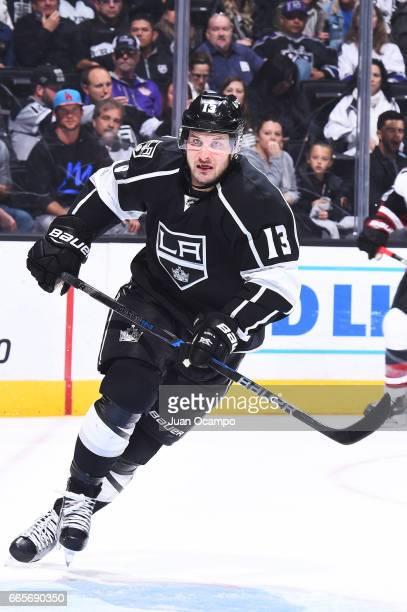 Kyle Clifford of the Los Angeles Kings skates during the game against the Arizona Coyotes on April 2 2017 at Staples Center in Los Angeles California