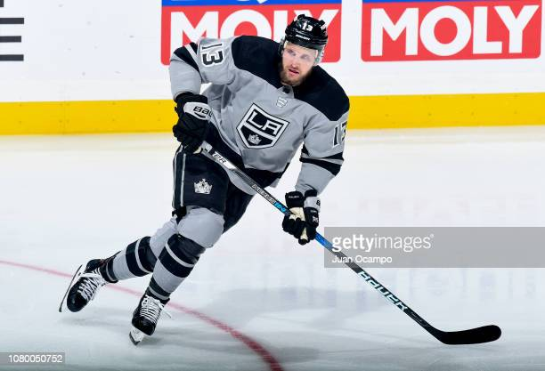 Kyle Clifford of the Los Angeles Kings skates during the second period of the game against the Vegas Golden Knights at STAPLES Center on December 8...