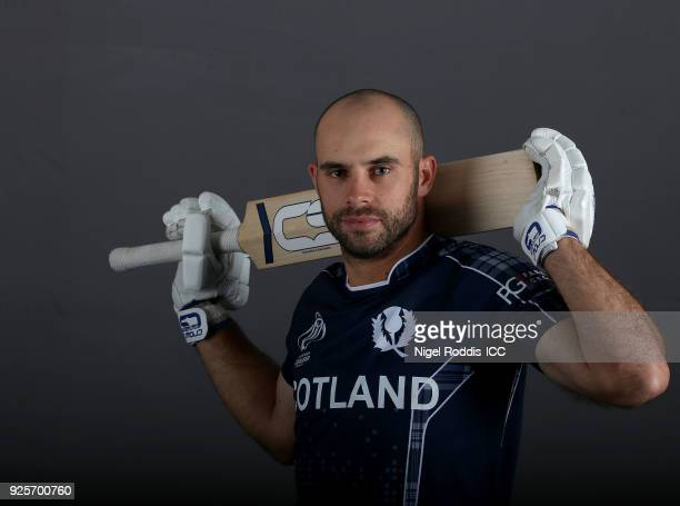 Kyle Coetzer of Scotland poses for a picture during the Scotland Portrait Session for the ICC Cricket World Cup Qualifier at The Holiday Inn on...
