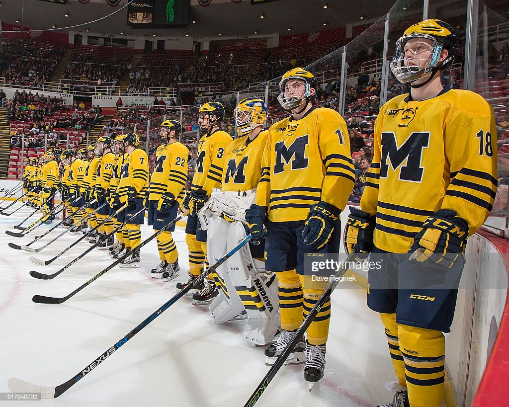 low priced df9ac 6bda4 Kyle Connor and Zach Werenski and the rest of the Michigan ...