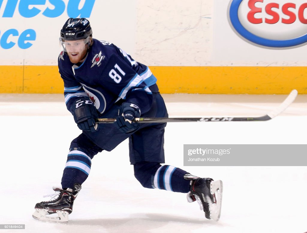Kyle Connor #81 of the Winnipeg Jets follows the play up the ice during second period action against the Los Angeles Kings at the Bell MTS Place on February 20, 2018 in Winnipeg, Manitoba, Canada.