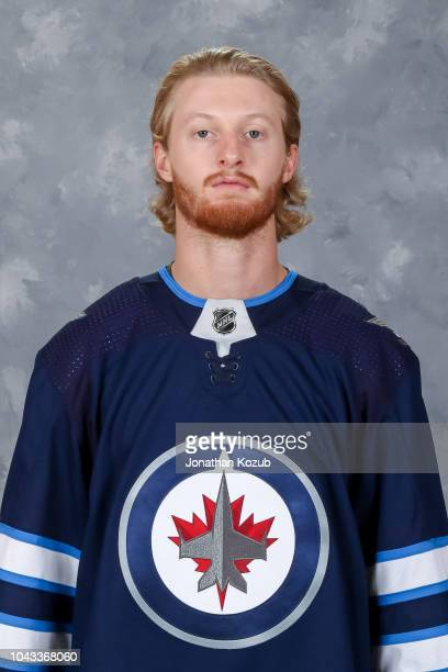 Kyle Connor of the Winnipeg Jets poses for his official headshot for the 20182019 season on September 13 2018 at the Bell MTS Iceplex in Winnipeg...