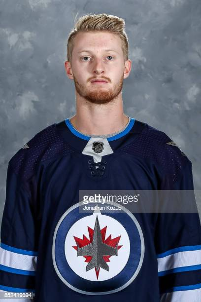 Kyle Connor of the Winnipeg Jets poses for his official headshot for the 20172018 season on September 14 2017 at the Bell MTS Iceplex in Winnipeg...