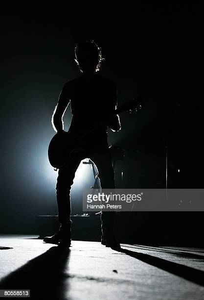 Kyle Cook of Matchbox 20 performs on stage at Vector Arena on April 8 2008 in Auckland New Zealand