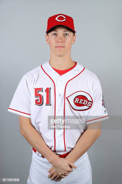 Kyle Crockett of the Cincinnati Reds poses during Photo Day on Tuesday February 20 2018 at Goodyear Ballpark in Goodyear Arizona